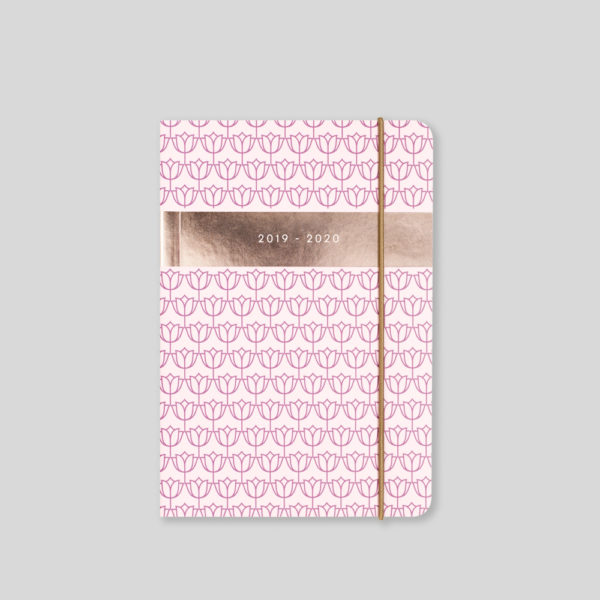 Matilda Myres 2019-20 Flex Cover A6 Daily Mid Year Diary – Pink – MY110-03D