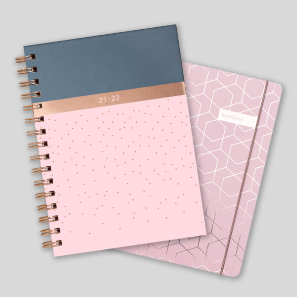 Matilda Myres 2021-22 Rose Gold Weekly Mid Year Diary & Notebook – Pink