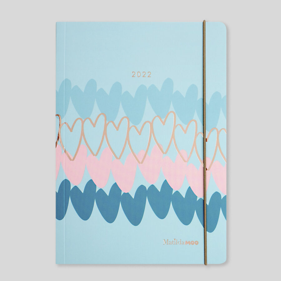 2022 A5 Weekly Diaries by Matilda MOO Blue