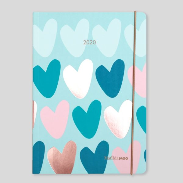 Matilda MOO 2020 Flex Cover A5 Weekly Diary – Peppermint – MOO120-02W