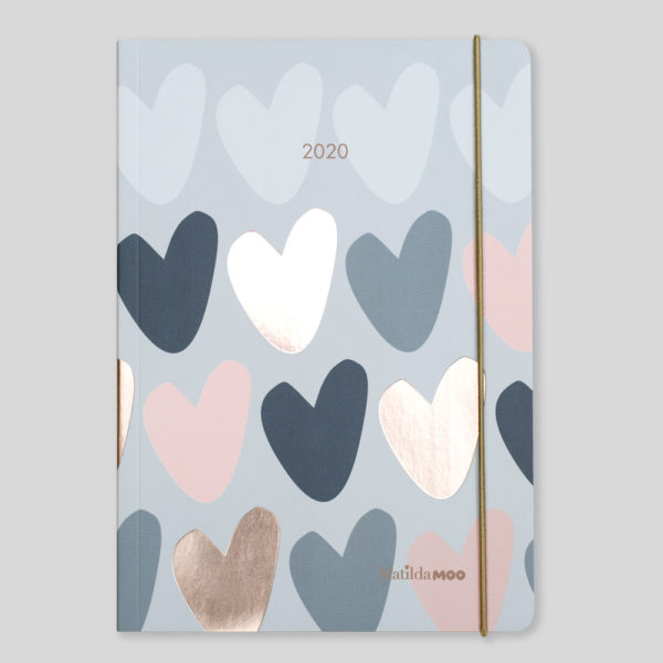 Matilda MOO 2020 Flex Cover A5 Weekly Diary – Grey – MOO120-02W