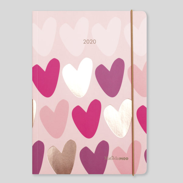 Matilda MOO 2020 Flex Cover A5 Weekly Diary – Pink – MOO120-01W