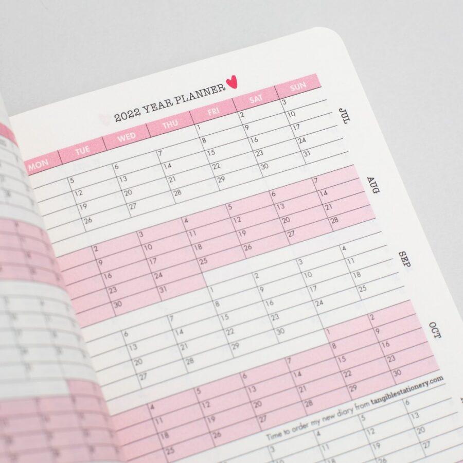 2022 A6 Diary Matilda Moo Year Planner