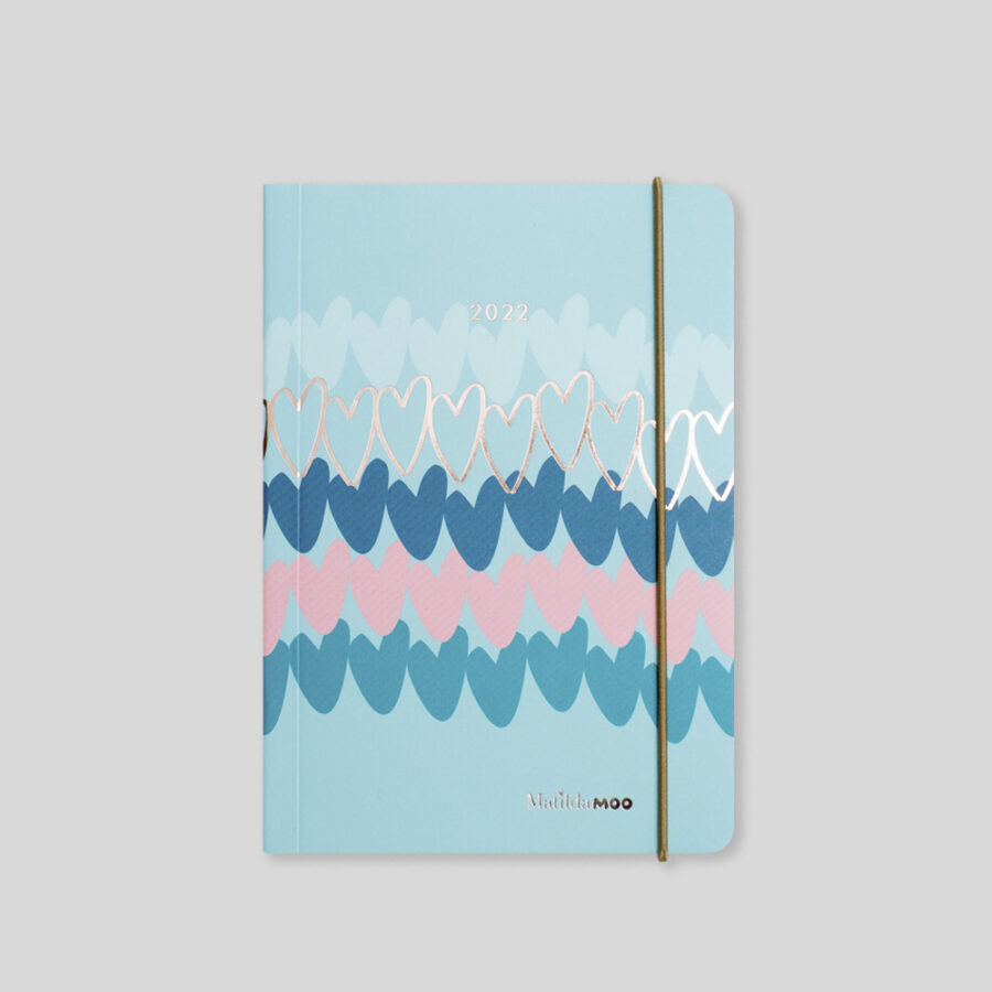 2022 A6 Day Diaries by Matilda MOO Blue