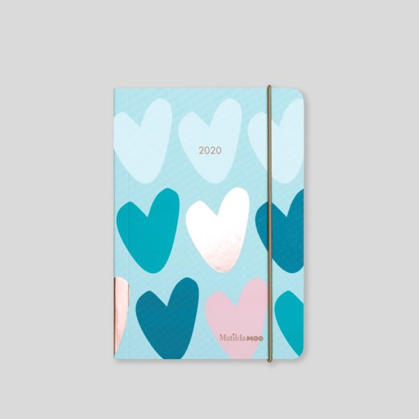 Matilda MOO 2020 Flex Cover A6 Daily Diary – Peppermint - MOO125-03D