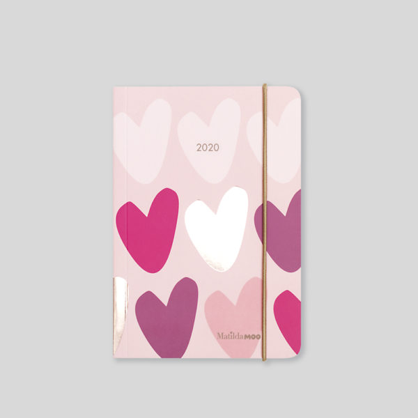 Matilda MOO 2020 Flex Cover A6 Daily Diary – Pink – MOO125-01D