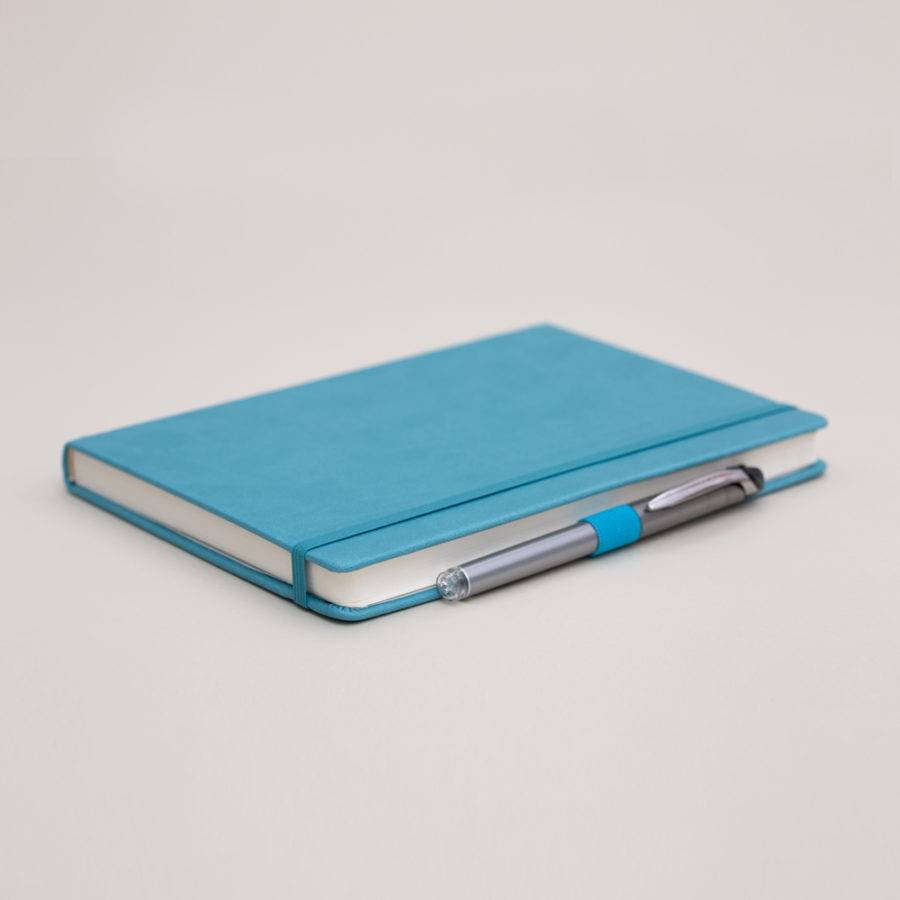 A5 lined notebook teal