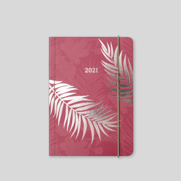 Matilda Myres 2021 Rose Gold Fern A6 Daily Diary – MY125-03D