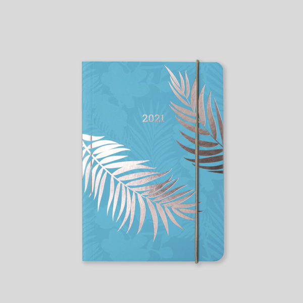 Matilda Myres 2021 Rose Gold Fern A6 Daily Diary – MY125-01D