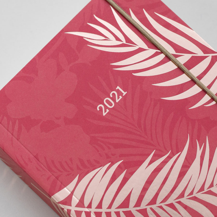 2021 Diaries A6 Red Rose Gold