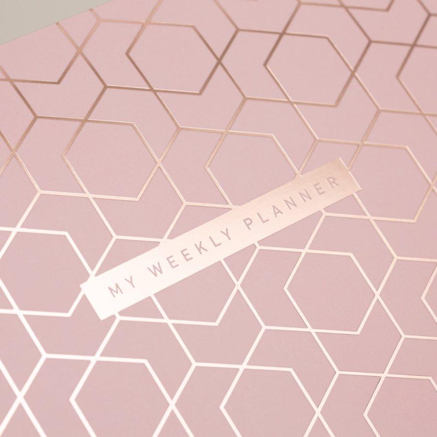 A4 desk pads pink