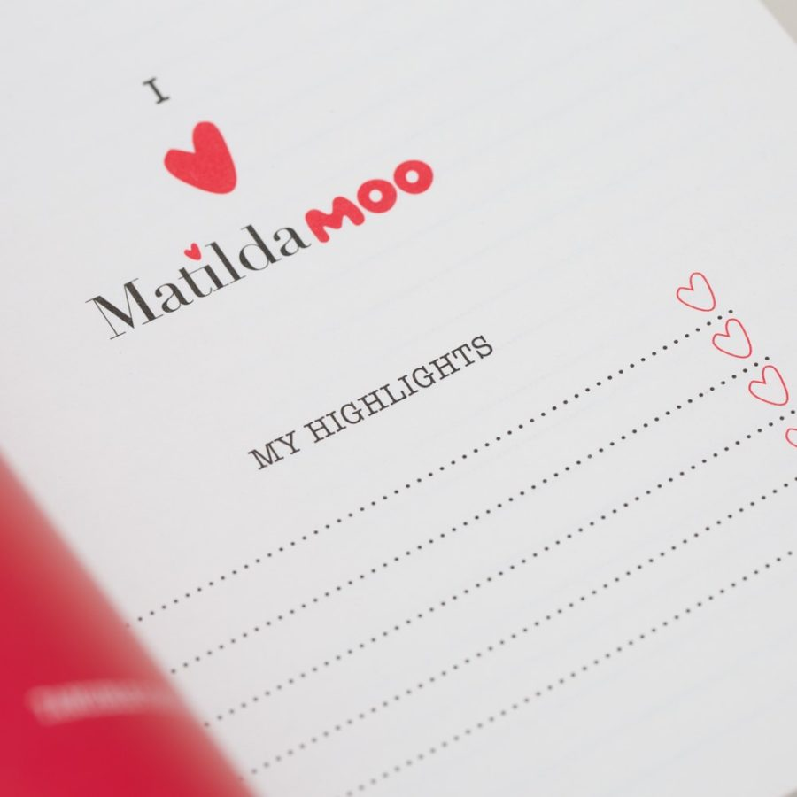 Matilda Moo A5 Notebook