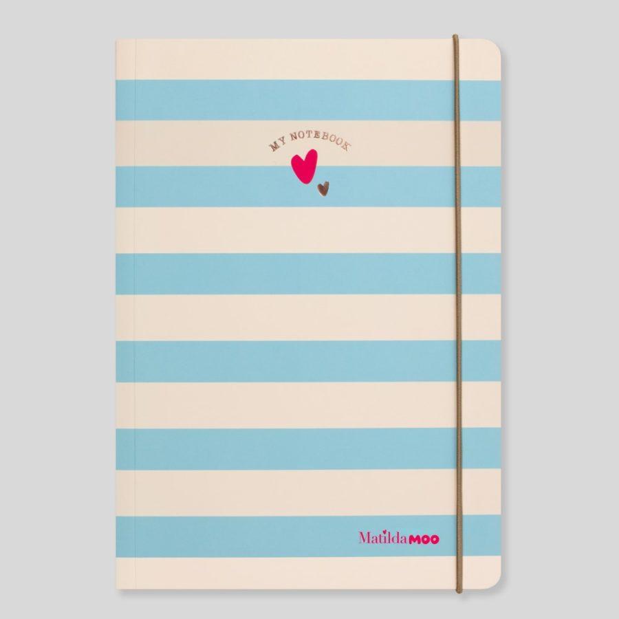 Matilda Moo A5 Notebook Stripes