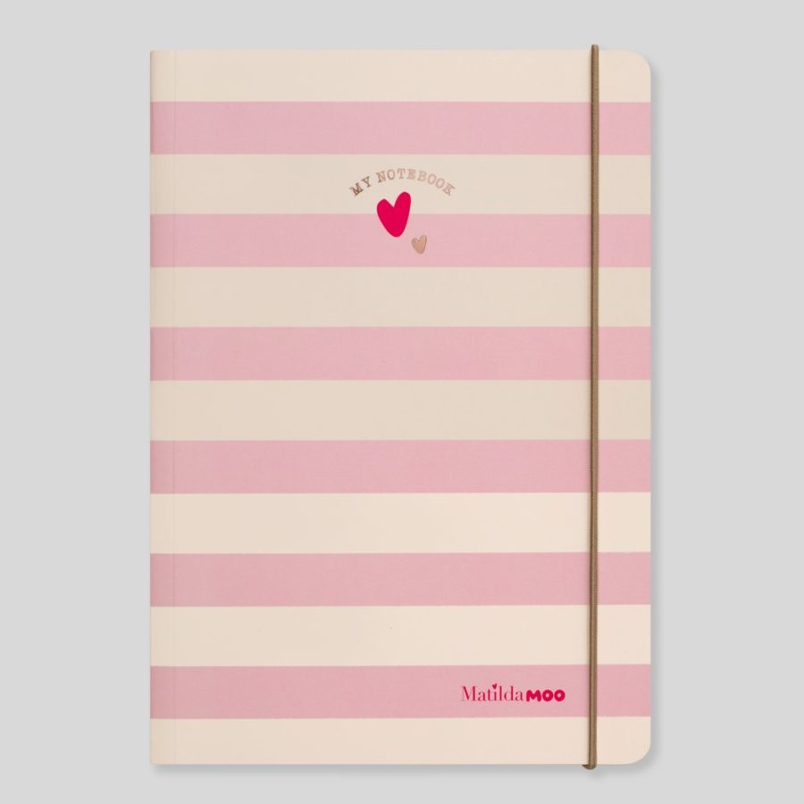 A5 ruled notebooks Pink
