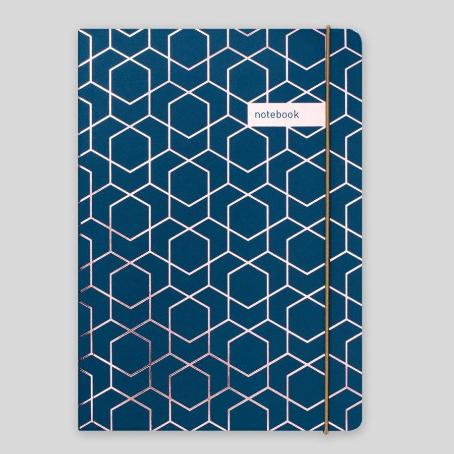 Matilda Myres A5 Notebook Navy