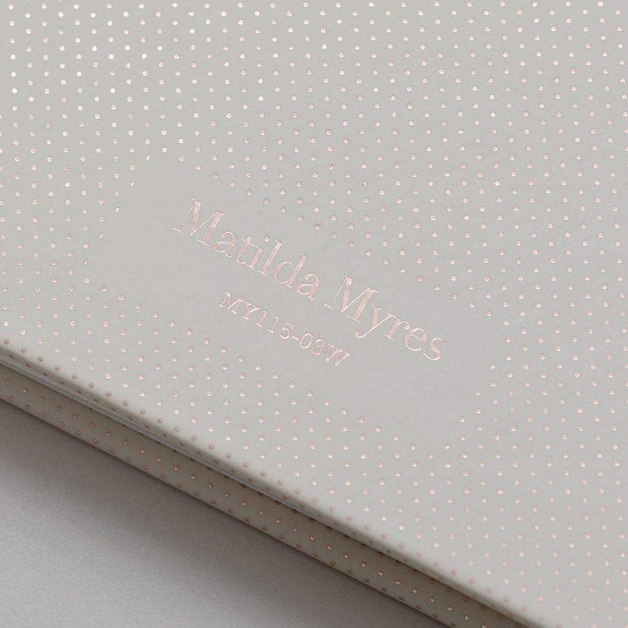 2021 Diary Week to View Diary Rose Gold Wiro Diaries - Matilda Myres
