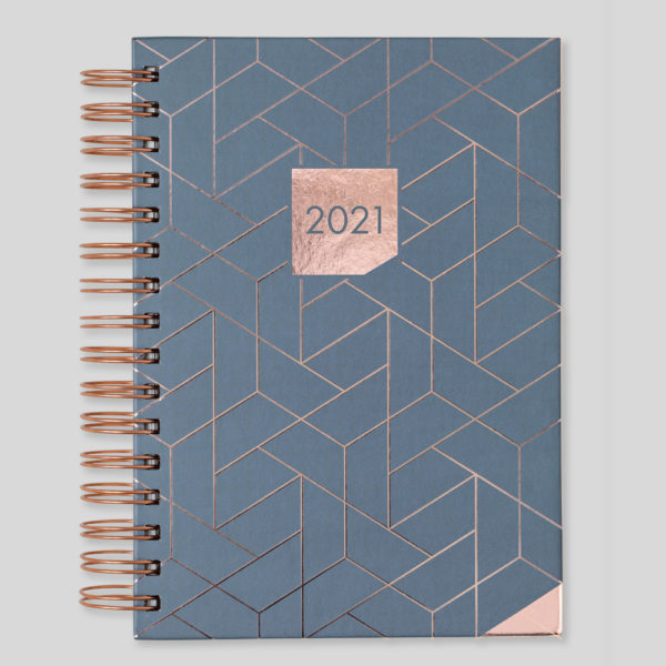Matilda Myres 2021 Rose Gold Wiro A5 Daily Diary – Grey – MY115-02D