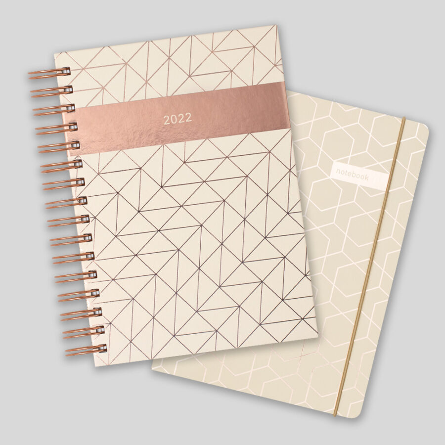 2022 A5 Day a Diary Matilda Myres Ivory Gift Set
