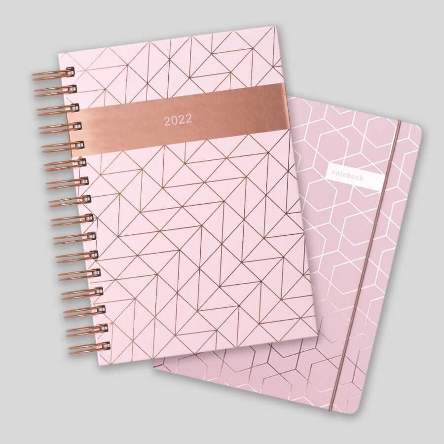 2022 A5 Day a Diary Matilda Myres Pink Gift Set