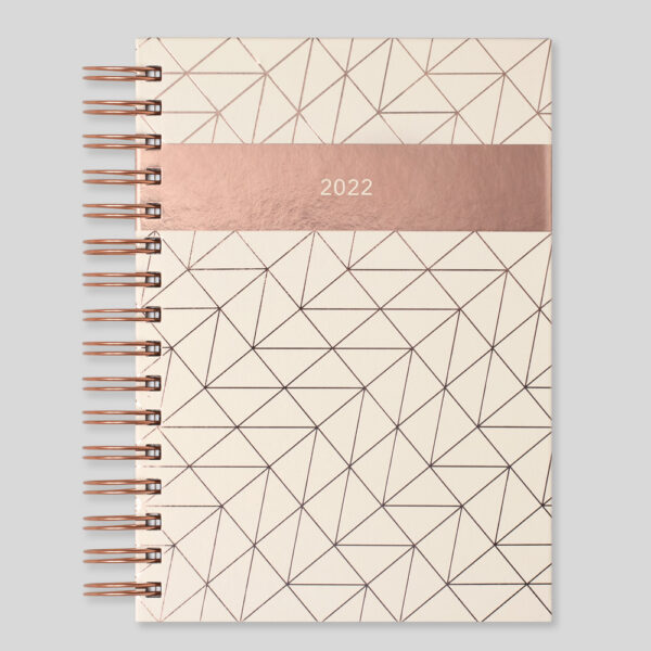 Matilda Myres 2022 Rose Gold Wiro A5 Daily Diary – Ivory – MY115-03D-NEW