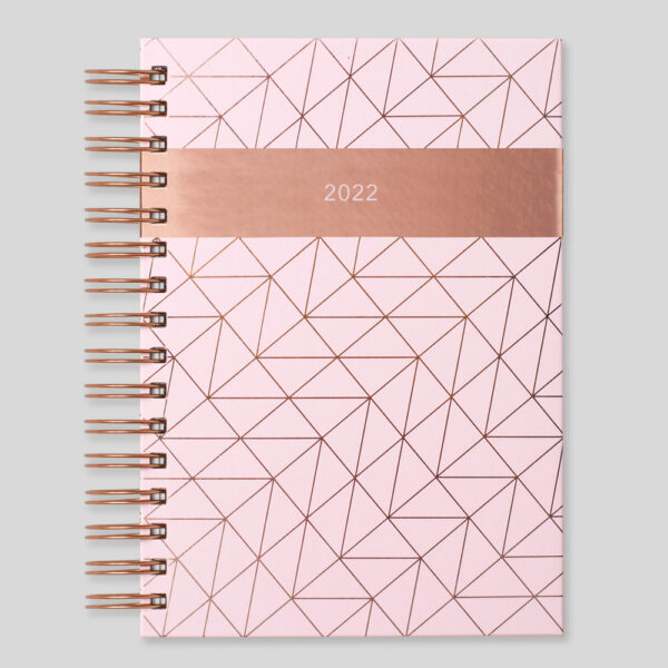 Matilda Myres 2022 Rose Gold Wiro A5 Daily Diary – Pink – MY115-01D-NEW
