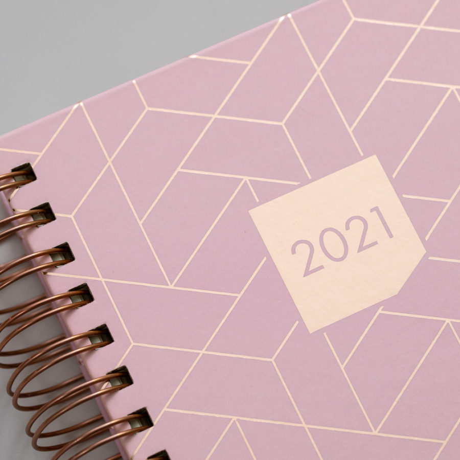 2021 Rose Gold Diary Pink