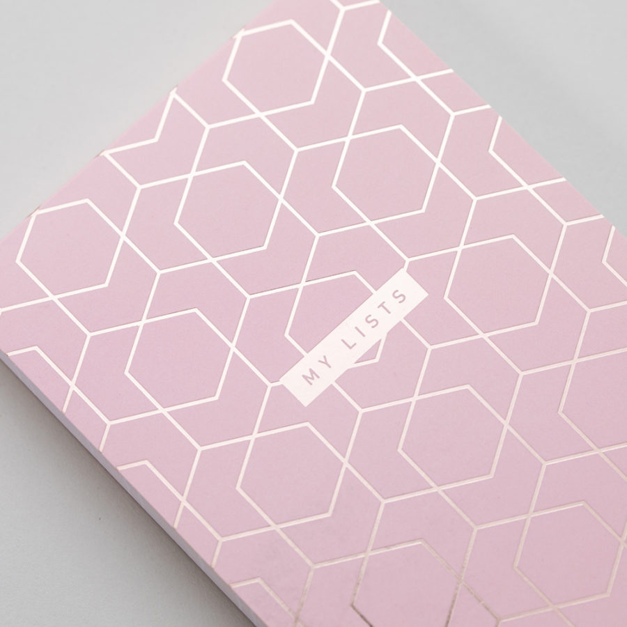 Pink Shopping List Rose Gold