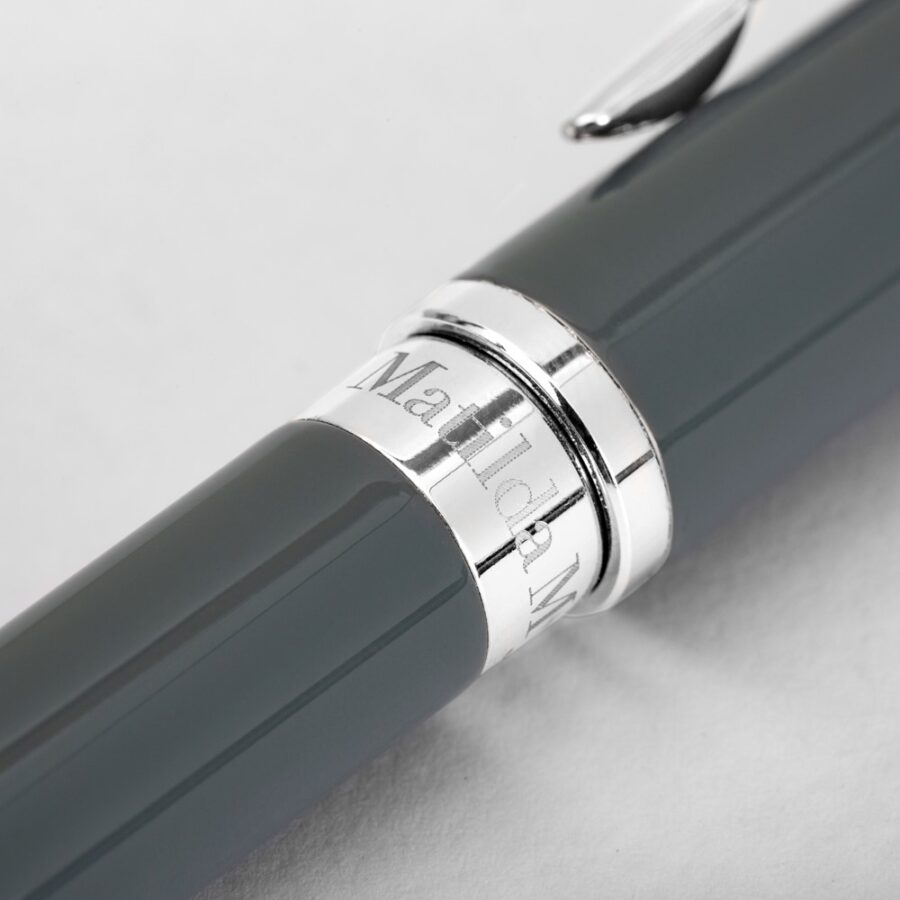 Matilda Myers Silver and Grey Ball Pens
