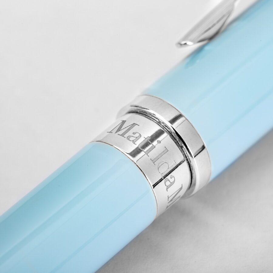 Matilda Myres Blue Pen Silver