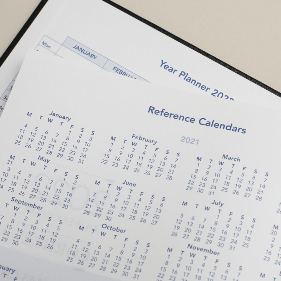 2022 Diary Reference Calendar - A4 Daily Black