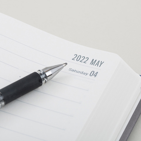 2022 Day a Page Diary Forbes Grey Daily