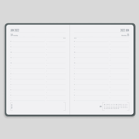 2022 Day a Page Diary Forbes Grey Layout