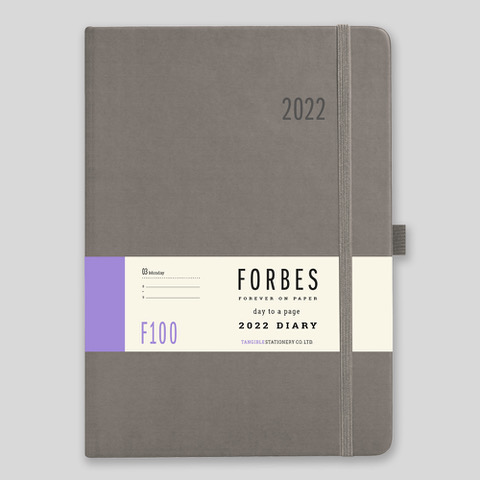 FORBES Classic 2022 A5 Day a Page Diary with Appts – F100-04-Grey