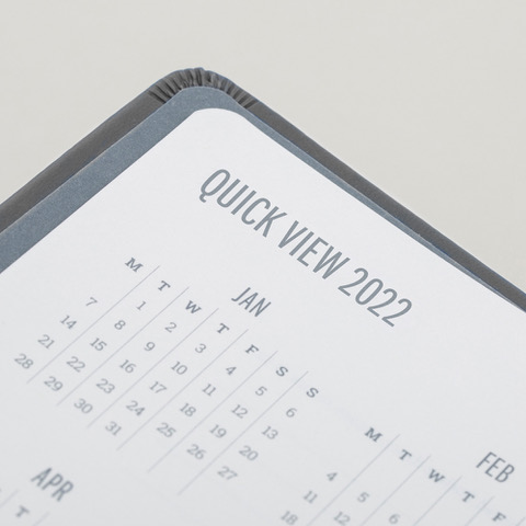 2022 Week to View Diary Forbes Grey Calendar