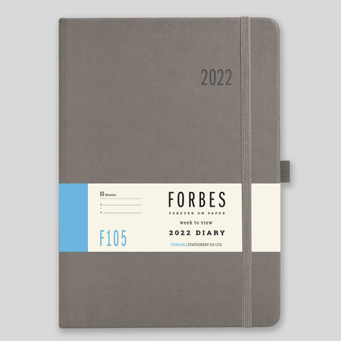 FORBES Classic 2022 A5 Week to View Diary with Appts – F105-04-Grey