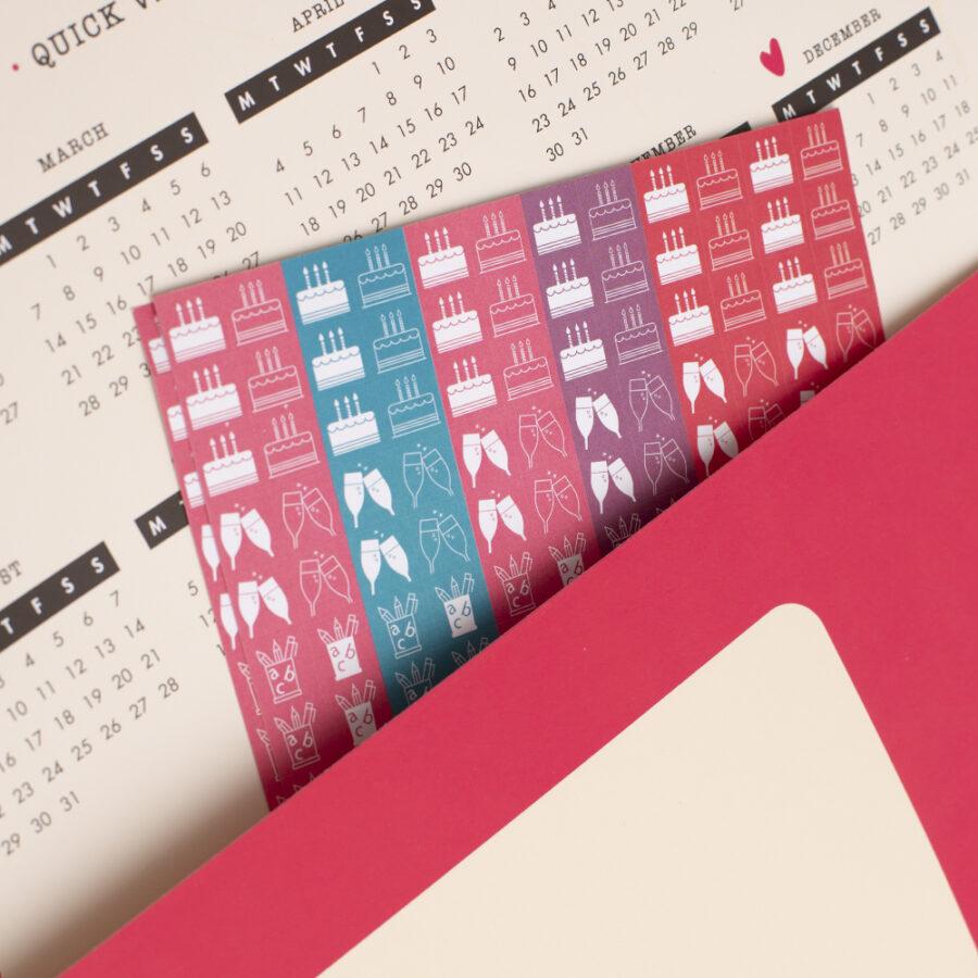 2022 Family Calendar Document Pocket