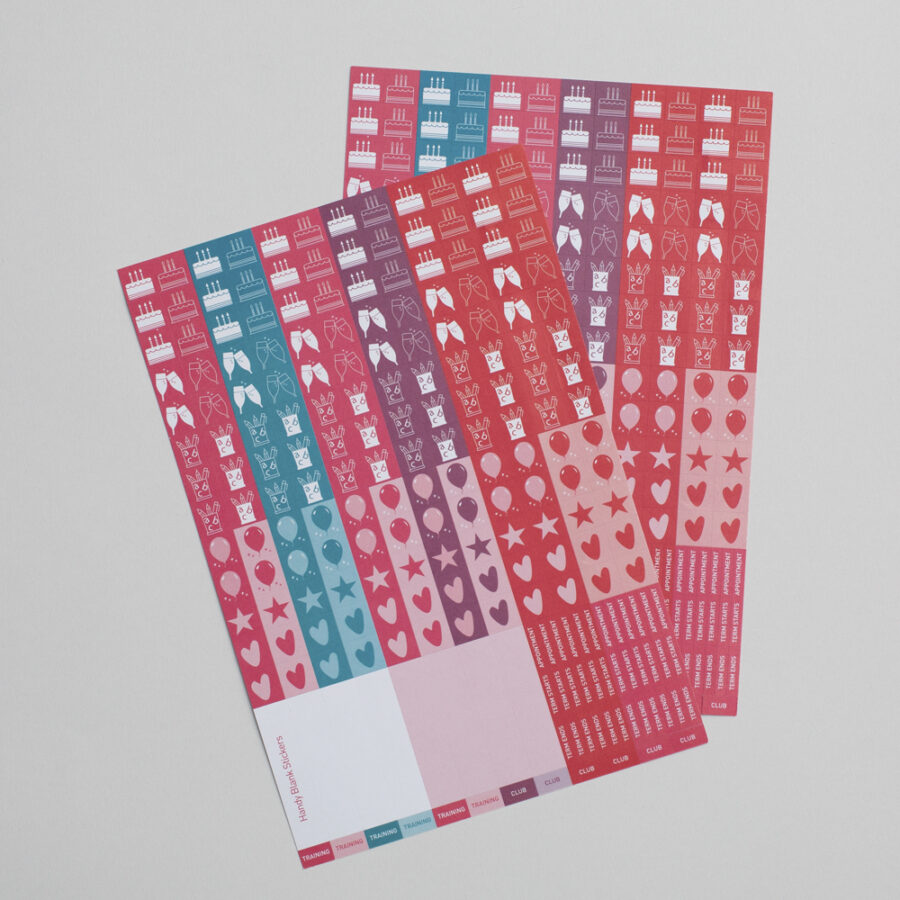 2022 Family Calendar Sticker Pack