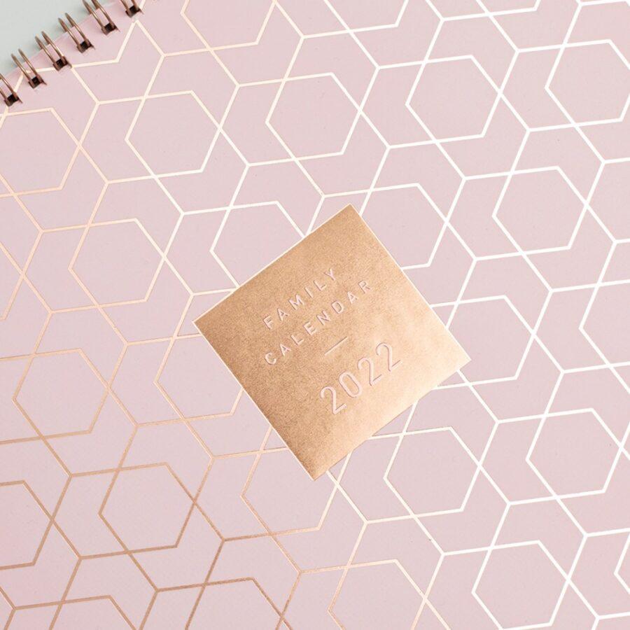 2022 Family Calendar from Matilda Myres Rose Gold